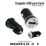 Cargador Carro Cigarrera (usb Mp3 Iphone Blackberry Samsung)