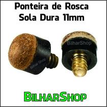 Ponteira De Rosca Sola Dura 11mm Taco Sinuca Bilhar Snooker