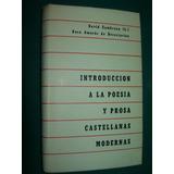 Libro Introducción Poesía Prosa Castellana Modernas Zambrano