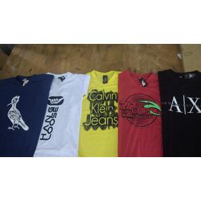 Kit 5 Camisas Camisetas Gola V Estampadas Atacado Revenda