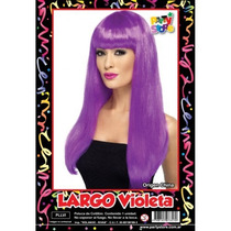Peluca Largo Violeta Cotillon