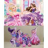 Kit Display Barbie Pop Star 4 Peças + Painel 2,00x1,40mt