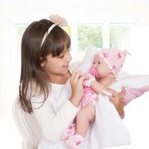 Boneca Bebezinho Da Mamãe De Fraldas E Luvas Cotiplás