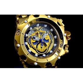 Relógio Invicta Venom Cronógrafo Suiço Plaque Ouro 16804