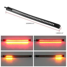 Lanterna Custon Led Flexível Moto + Pisca E Luz De Freio