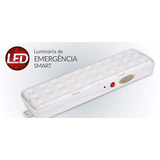 Luminaria De Emergência Smart Avant 30 Leds