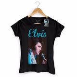 Camiseta Feminina Elvis Presley 70