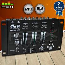 Consola Mezcaldora Mixer Dj Gbr Bat 1900 Mp3 Usb Gtía 2 Años