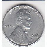 Antigua Moneda Nickel Eeuu Un Centavo 1.943.