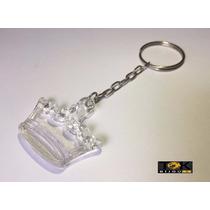 25 Chaveiros Coroa Acrilica - Lembrancinha - Transparente