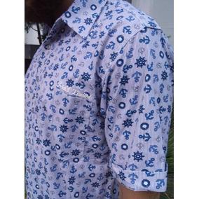 Camisa Botão Trick$ Limited Marítimo Estampada Original
