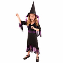 Disfraz Bruja Hechicera Con Sombrero Halloween