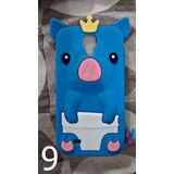 Capa Case Galaxy S4 Tpu I9500 Silicone Porquinho Rei Perolas