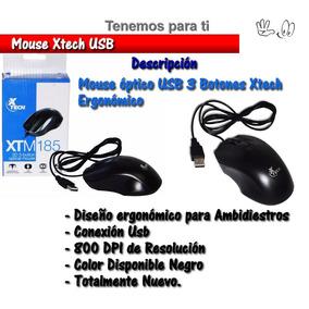 Mouse Economico Xtech Usb 3d Tienda Fisica Laptop