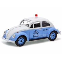 Volkswagen Fusca Clássico Policia Militar 1:24 Fusca-1