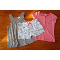 Conjunto 3 Piezas Vestido Marca Carters Para Niña 4 Años