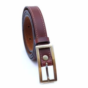 Cinturón Emele Cuero Dama Marrón Negro Regalo Mujer
