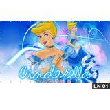 Cinderela Princesa Painel 2,00x1,00 Lona Festa Aniversario