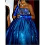 Vestido De 15 Años Azul Rey Dos En Uno