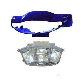 Carenagem Do Farol + Bloco Òtico Biz100 Azul Perolizado 2005