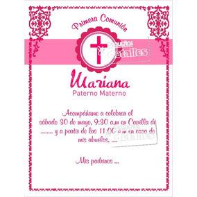 Invitaciones De Presentacion Bautizo Comunion Confirmacion