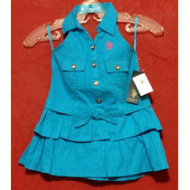 Vestido Marca U.s. Polo Ralph, Halter Casual Fiesta Princesa