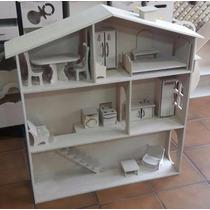 Casita De Muñecas Barbie Con 14 Muebles De Regalo !!!!!!