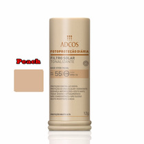 Filtro Solar Tonalizante Facial Fps55 Base Stick Peach Adcos