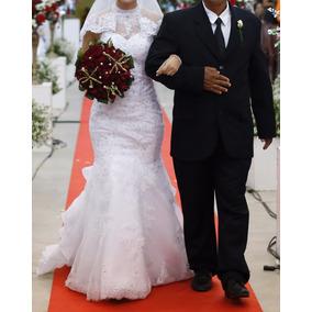 Vestido De Noiva Longo P Ao M, Tipo Sereia (pronta Entrega)
