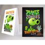 Plantas Vs. Zombies Souvenir Anotador Personalizado X32!!!