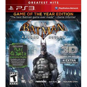 Jogo Batman - Arkham Asylum 3d - Ps3