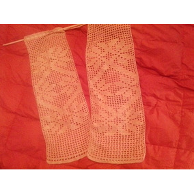 visillos tejidos al crochet en hilo