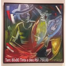 Quadros Tinta Óleo 80x80cm Artista Plástica Carla Rodrigues