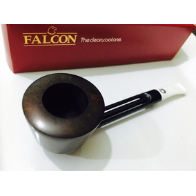 Pipa Falcon Inglesa / Color Oscuro Boquilla Blanca /
