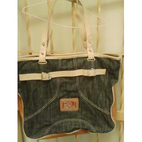 Cartera Qq Bear Original Grande De Jeans