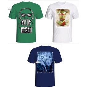 Camisetas Camisas Masculina Estampadas Atacado Combo 30 Un