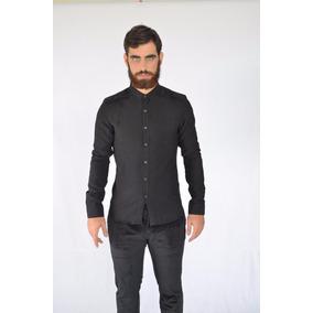 Camisas De Lino Slim Fit Importadas ¡exclusivos! Ass223 Azul