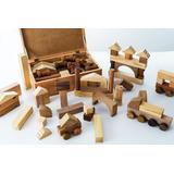 Jogo Brinquedo Pedagógico Baú 60 Peças Para Montagem-madeira
