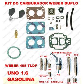 Kit Reparo Carburador Uno 1.6 Gasolina Weber Duplo 495 Tldf