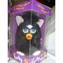 Muñeco Furby Sólido Negro Con Rosa Orejas Y Ojos Verdes