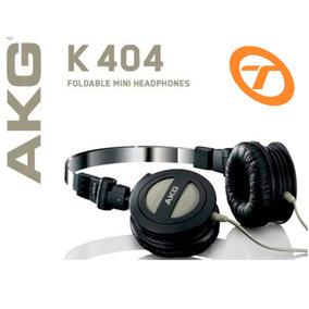 Fone De Ouvido Akg K 404 Original Dobrável Monitor + Bolsa