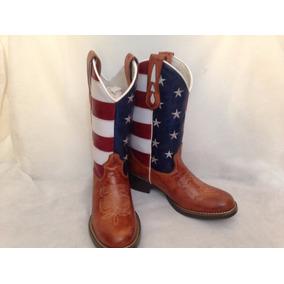 Bota Texana Country Bandeira Estados Unidos Feminina