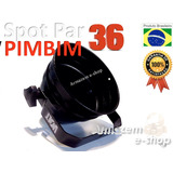 Kit 20un Pinspot Refletor Pimbim Tx Par 36 Preto Mini Bojo