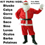 Roupa Fantasia De Papai Noel - Tamanho Super Grande - Kit G3