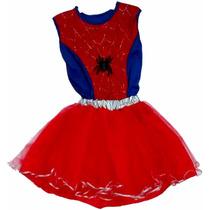 Disfraz Spider Girl Mujer Araña Artesanal Talle 3/4 Años
