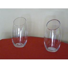 par de jarrones de vidrio cm alto