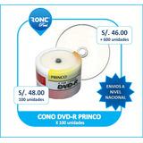 Dvd-r Princo 8x Pack 100 Nuevo