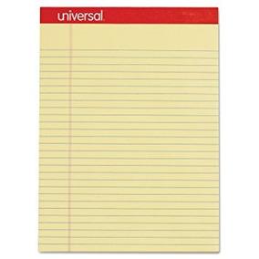 Universal Perforada Edge Panel De Escritura, Legal / Regla