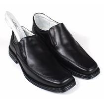 Sapato Masculino Couro Pelica Super Confortável Palmilha Gel
