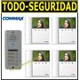 Kit Portero Visor Commax Lcd 4 Timbres Departamentos Ph Dtos